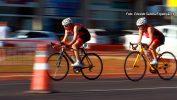 Prova de triatlo aconteceu, sábado 23/07,no lago 3 da represa da cidade.